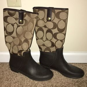 COACH Signature Boots